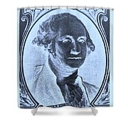 George Washington In Negative Cyan Shower Curtain