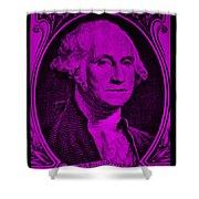 George Washington In Purple Shower Curtain