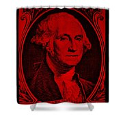 George Washington In Red Shower Curtain