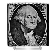 George Washington In White Shower Curtain