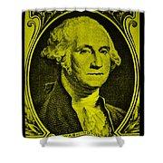 George Washington In Yellow Shower Curtain