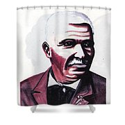 Georges Washington Carver Shower Curtain by Emmanuel Baliyanga