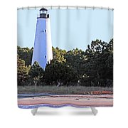 Georgetown Light Winyah Bay Sc Shower Curtain