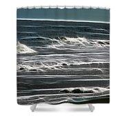 Georgia - Ocean Sparks Shower Curtain