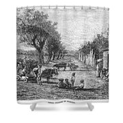 Georgia: Black Village Shower Curtain