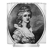 Georgiana Shipley (1752-1806) Shower Curtain
