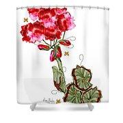 Geranium Sans Pot Shower Curtain