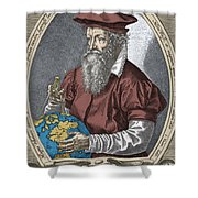 Gerardus Mercator, Flemish Cartographer Shower Curtain