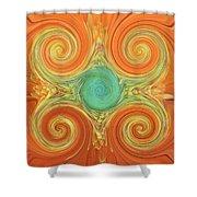 Gerbera Abstract Shower Curtain