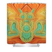 Gerbera Bird Abstract Shower Curtain