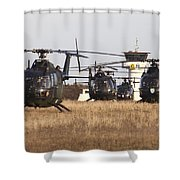 German Army Bo-105 Helicopters, Stendal Shower Curtain