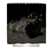 German Army Crew In A Wiesel 1 Atm Tow Shower Curtain