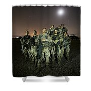 German Army Crew Poses Shower Curtain