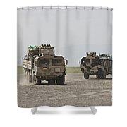 German Army Man 7t Mil Gl 6x6 Pritsche Shower Curtain