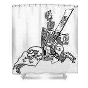 German Knight Shower Curtain