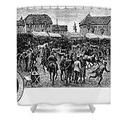 German Market, C1890 Shower Curtain