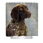 German Pointer Portrait Of A Dog Shower Curtain