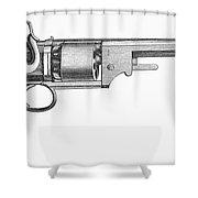 German Revolver, 1856 Shower Curtain