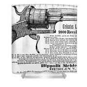 German Revolver, 1880 Shower Curtain