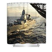 German Sachsen-class Frigate Hessen Shower Curtain