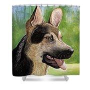 German Shepard Puppy Shower Curtain