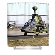 German Tiger Eurocopters At Fritzlar Shower Curtain