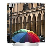 German Umbrella Shower Curtain