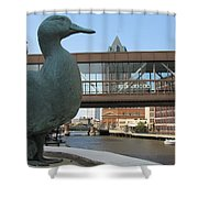 Gertie The Duck Shower Curtain