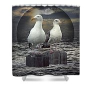 Gertrude And Heathcliff Shower Curtain