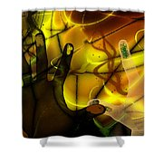 Get Together - Fingerpainting Shower Curtain