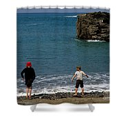 Get Your Feet Wet Shower Curtain