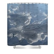 Geyser Basin Cloud Reflection Shower Curtain
