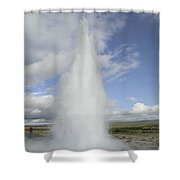 Geyser Erupting 20 Meters High Every 8 Shower Curtain