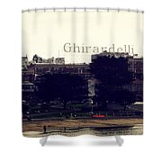 Ghirardelli Square Shower Curtain