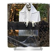 Ghost At The Gate Shower Curtain