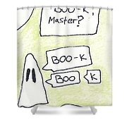 Ghost Bookmark Shower Curtain