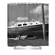 Ghost Crab Boat Shower Curtain