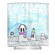 Ghost In Snow Shower Curtain