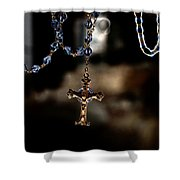 Ghost Of A Rosary Shower Curtain