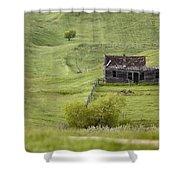 Ghost Town Galilee Saskatchewan Shower Curtain