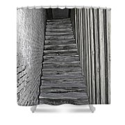 Ghost Town Stairs Bodie California Shower Curtain
