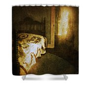 Ghostly Figure In Hallway Shower Curtain by Jill Battaglia