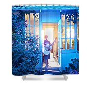 Ghostly Guitarist Shower Curtain