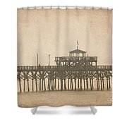 Ghostly Pier Shower Curtain