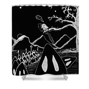 Ghosts 1 Inverted Shower Curtain