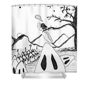 Ghosts 1 Shower Curtain
