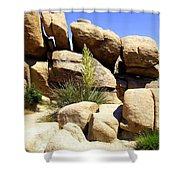 Giant Rocks Shower Curtain