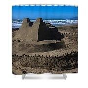 Giant Sand Castle Shower Curtain