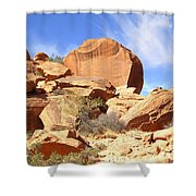 Giant Sandstone Boulders Shower Curtain