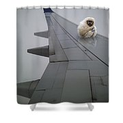 Gibbon On Wing Shower Curtain
